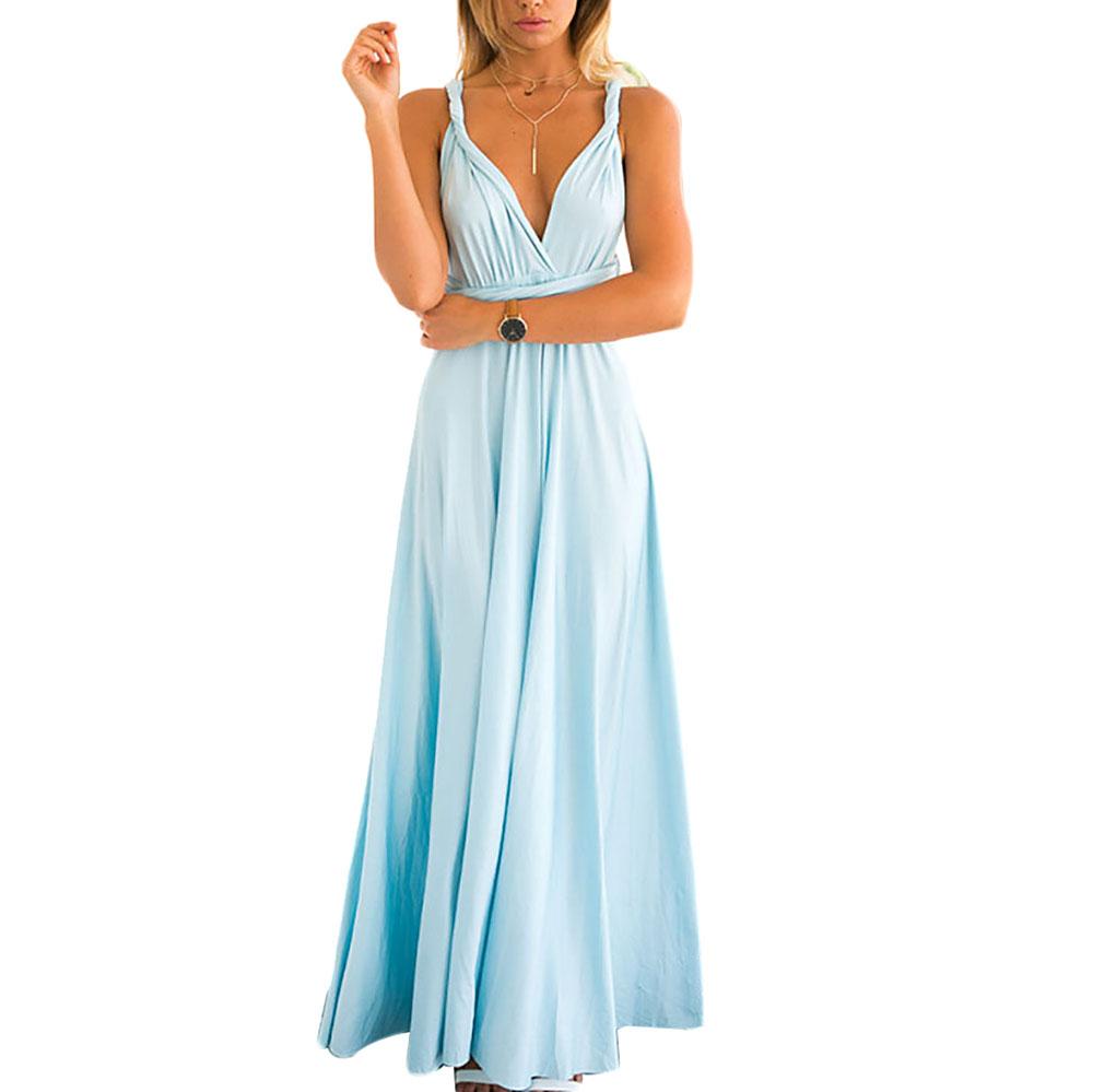 Womens-Bridesmaid-Convertible-Wrap-Long-Maxi-Dress-Bandage-Evening-Maxi-Dress